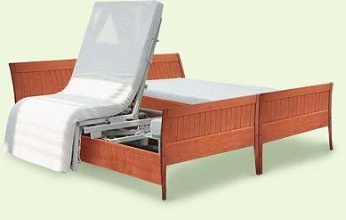 schweizer spezialbett spezialsessel pflegebett aufstehbett rotoflex f r hotels und. Black Bedroom Furniture Sets. Home Design Ideas